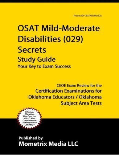 9781614032960: OSAT Mild-Moderate Disabilities (029) Secrets Study Guide: CEOE Exam Review for the Certification Examinations for Oklahoma Educators/Oklahoma Subject Area Tests