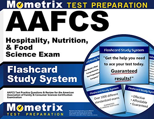 9781614034759: AAFCS Hospitality, Nutrition, & Food Science Exam Flashcard Study System: AAFCS Test Practice Questions & Review for the American Association of ... Sciences Certification Examination (Cards)