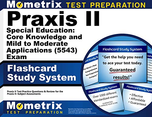9781614037149: Praxis II Special Education Core Knowledge and Mild to Moderate Applications (5543) Exam Flashcard Study System: Praxis II Test Practice Questions and