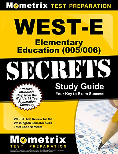 9781614037668: WEST-E Elementary Education (005/006) Secrets Study Guide: WEST-E Test Review for the Washington Educator Skills Tests-Endorsements
