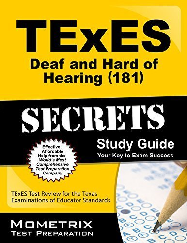 9781614039938: TExES (181) Deaf and Hard of Hearing Exam Secrets Study Guide: TExES Test Review for the Texas Examinations of Educator Standards