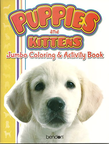 9781614059769: Kittens & Puppies and Puppies & Kittens Jumbo Coloring & Activity Book (Art Cover Varies_