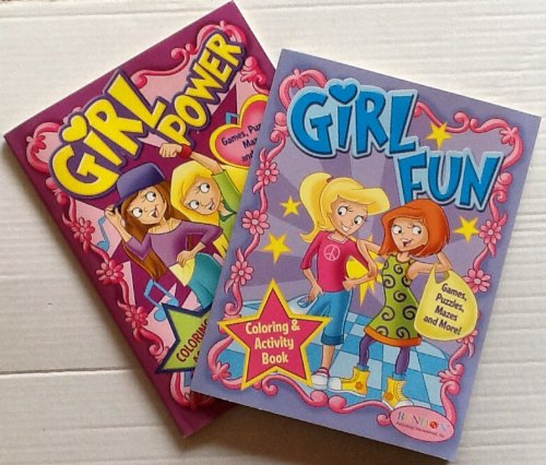 9781614059783: Girl Fun & Girl Power Coloring & Activity Books 2-Pack