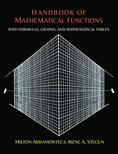 9781614276173: Handbook of Mathematical Functions with Formulas, Graphs, and Mathematical Tables