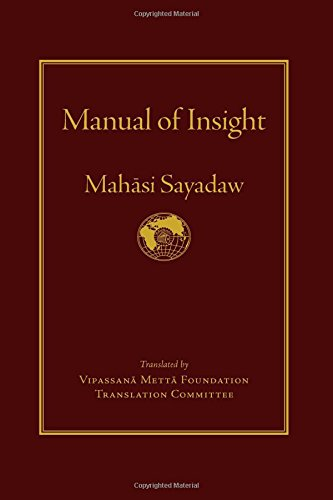 Manual of Insight (Hardcover): Mahasi Sayadaw