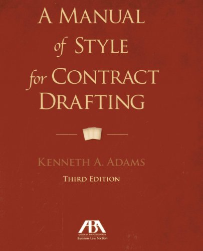 9781614388036: A Manual of Style for Contract Drafting
