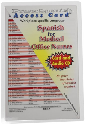 9781614490074: Spanish for Medical Office Nurses