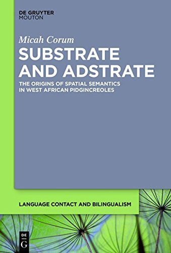 9781614514633: Substrate and Adstrate: The Origins of Spatial Semantics in West African Pidgincreoles