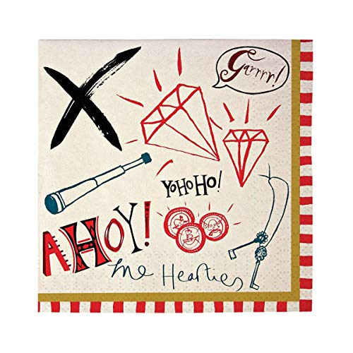 9781614546986: Ahoy There Pirate Napkin - 1 Pack