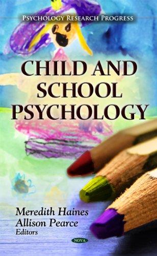 9781614708018: Child and School Psychology (Psychology Research Progress)