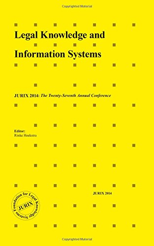 9781614994671: LEGAL KNOWLEDGE & INFORMATION SYSTEMS (Frontiers in Artificial Intelligence and Applications)