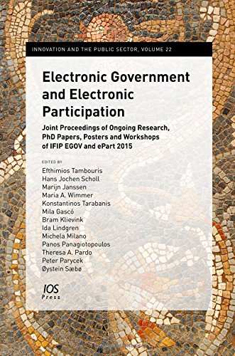 Electronic Government and Electronic Participation: Joint Proceedings of Ongoing Research, PhD ...