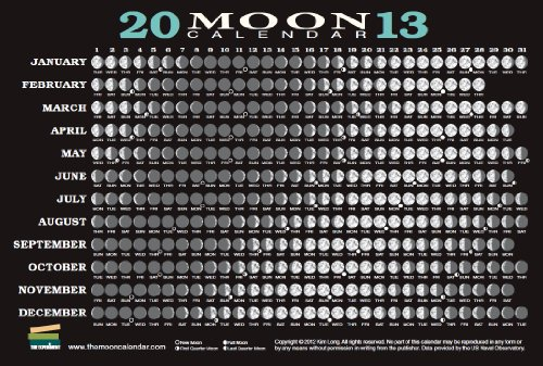9781615190737: 2013 Moon Calendar Card (5 pack)