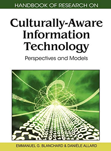 Handbook of Research on Culturally-Aware Information Technology: Emmanuel Blanchard, Stefane