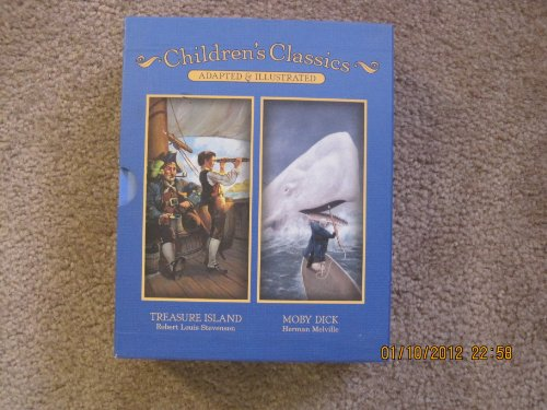 9781615240784: Adventure Classics for Young Readers Four Books: Treasure Island, Moby Dick, The Adventures of Huckleberry Finn, and The Adventures of Tom Sawyer