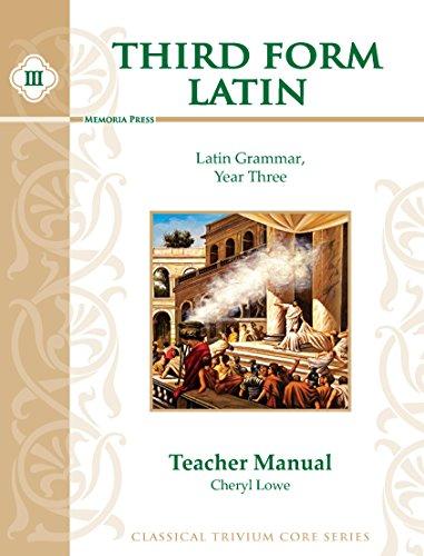 9781615381166: Third Form Latin, Teacher Manual