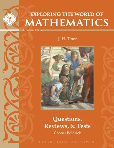 9781615382385: Exploring the World of Mathematics: Questions, Reviews, & Tests