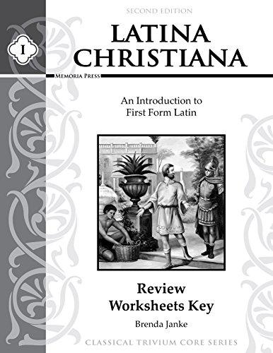 9781615385171: Latina Christiana I Review Worksheets Key, Second Edition