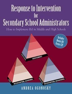 9781615398720: The Response to Intervention for Secondary School Administrators: How to Implement RtI in Middle and