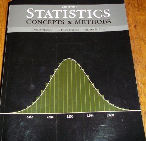 Statistics Concepts and Methods: Ditlev Monrad