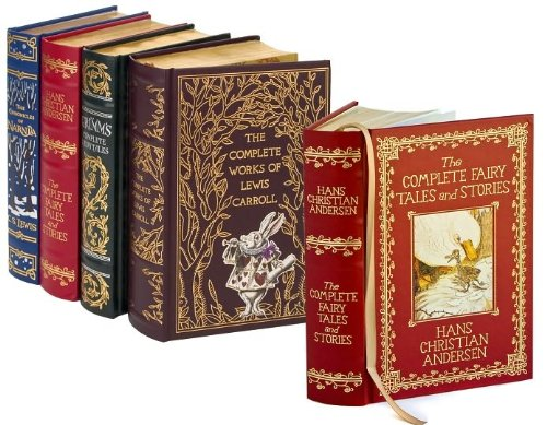 9781615543496: 4 Volume Leatherbound Fantasy Collection - The Chronicles of Narnia, Grimm's Complete Fairy Tales, Hans Christian Anderson Complete Tales and Stories, and, The Complete Works of Lewis Carroll