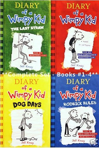 9781615579181: Diary of a Wimpy Kid, Books 1-4: Diary of a Wimpy Kid, Rodrick Rules, The Last Straw, and Dog Days