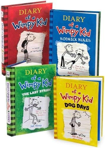 Diary Of A Wimpy Kid Books 1 4 Diary Of A Wimpy Kid Rodrick Rules The Last Straw And Dog Days By Jeff Kinney New 2009 Irish Booksellers