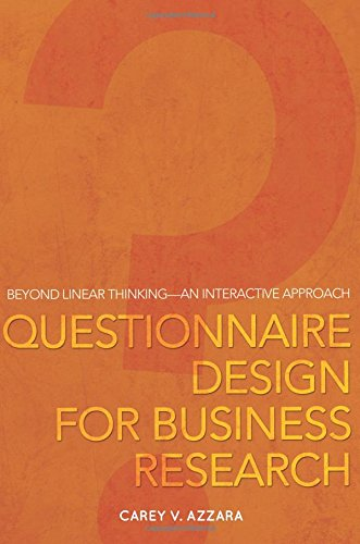 9781615668359: Questionnaire Design for Business Research