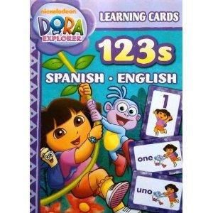 9781615681501: Dora the Explorer Learning Cards 123s Spanish & English