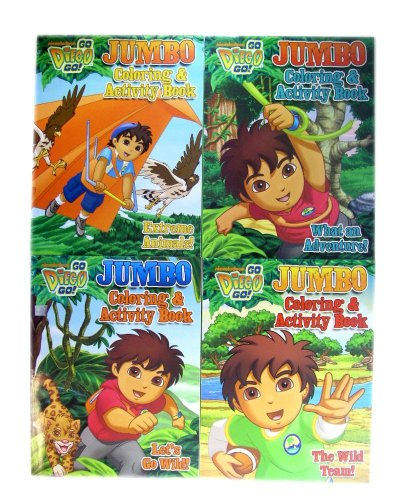 9781615681679: Go Diego Go! Jumbo Coloring & Activity Book (Assorted, Art Cover Varies)