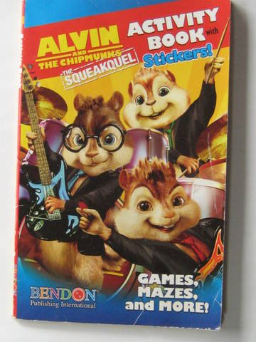 9781615682034: Alvin & the Chipmunks the Squeakquel Activity Book with Stickers