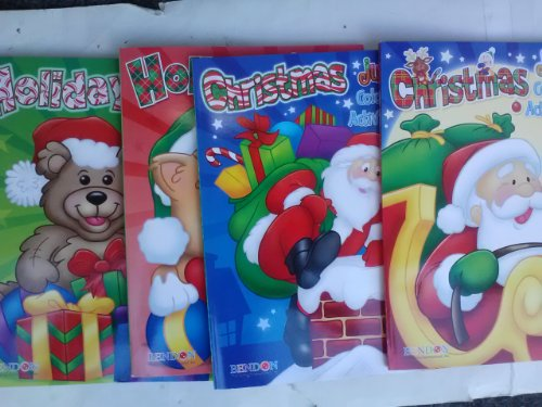 Christmas & Holiday Jumbo Coloring & Activity Book 4-Pack (2012)