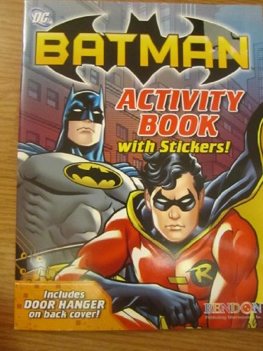 9781615682522: Dc Batman Activity Book with Stickers with Door Hanger on Back of the Cover!