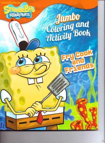 9781615684540: SpongBob SquarePants Jumbo Coloring & Activity Book ~ Fry Cook & Friends