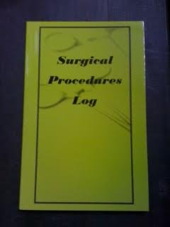 9781615842308: Surgical Procedures Log