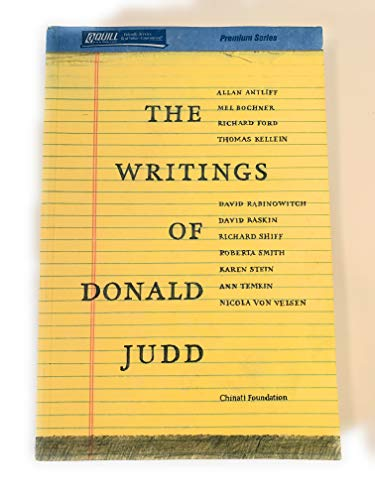 9781615845392: The Writings of Donald Judd
