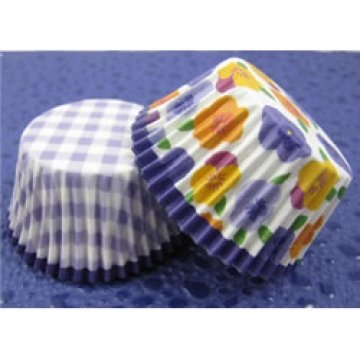 9781615863662: Gingham & Pansies Cupcake Cases