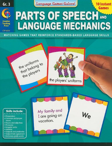 9781616011581: Parts of Speech and Language Mechanics, Grade 3 (Language Games Galore!)
