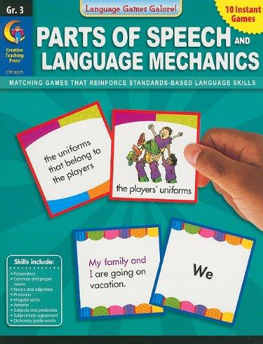 9781616011581: Parts of Speech and Language Mechanics, Grade 3 (Language Games Galore!)