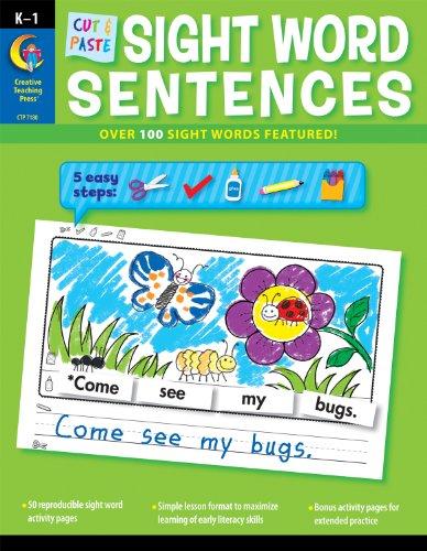 9781616017156: Cut & Paste Sight Words Sentences (CTP 7180)