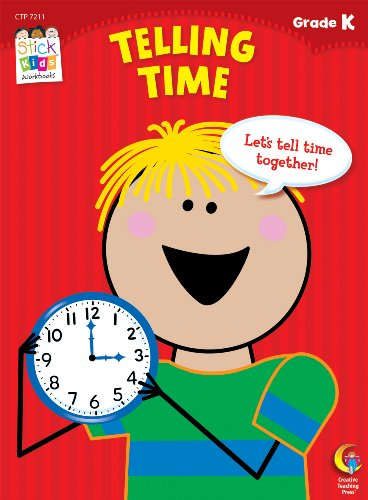 9781616017811: Telling Time, Grade K (Stick Kids Workbooks)