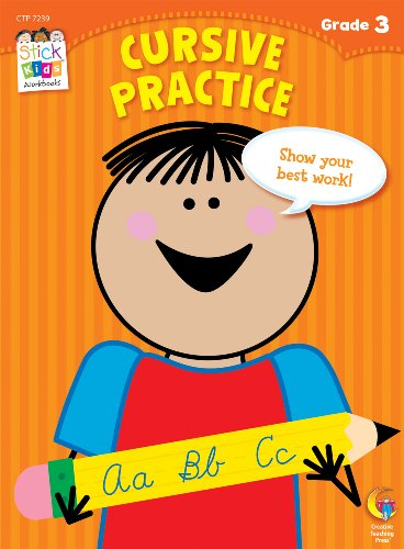 9781616018092: Cursive Practice Stick Kids Workbook, Grade 3 (Stick Kids Workbooks)