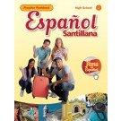 9781616052478: Español Santillana HS Practice Workbook Level 1
