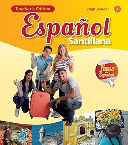 9781616052508: Espanol Santillana for High School Teacher Edition Level 1