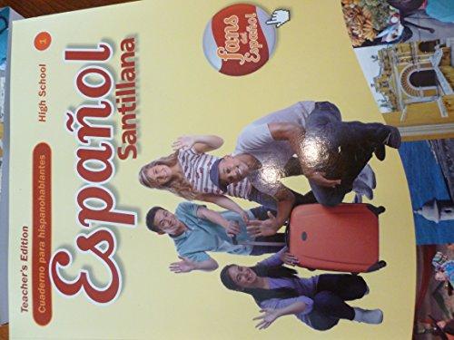 9781616053277: Espanol Santillana Cuaderno para hispanohablantes Teacher's Edition High School 1