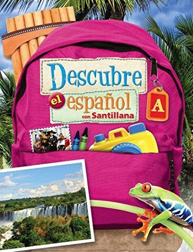 9781616055783: Descubre el Espa±ol con Santillana, Level A, Soft Cover (Tex Book)