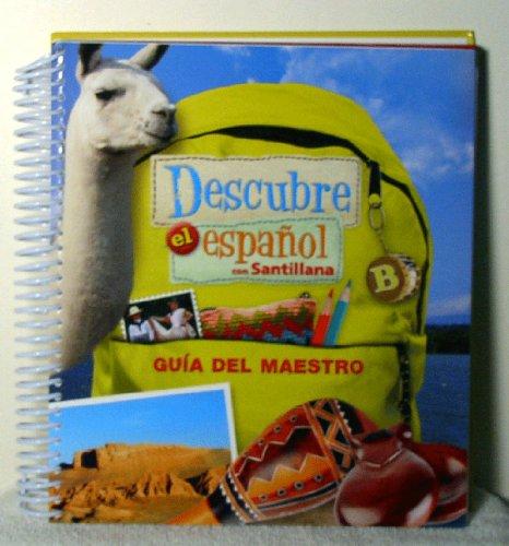 9781616055929: Descubre el Espanol con Santillana B Teacher's Edition
