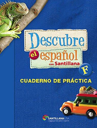 9781616056438: Descubre El Espańol Con Santillana Level F Softcover Workbook