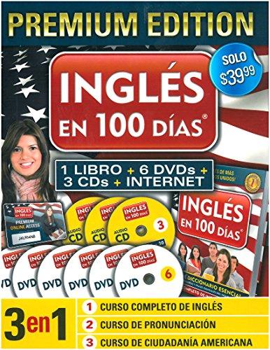 9781616059026: Inglés en 100 días-Premium Edition (Libro + 6 DVDs + 3 CDs + Internet Access Card) (Ingles en 100 Dias)