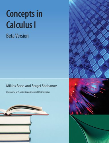 9781616101558: Concepts in Calculus I (Beta version)